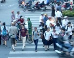 Crossing the streets in Vietnam
